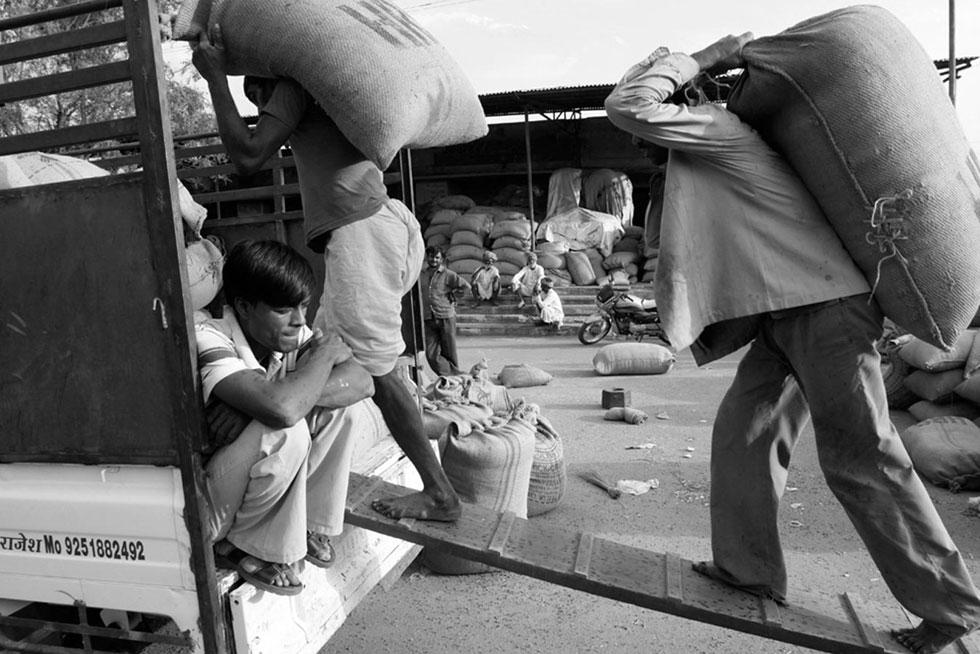 Depot de céréal, Kishangarh, Inde