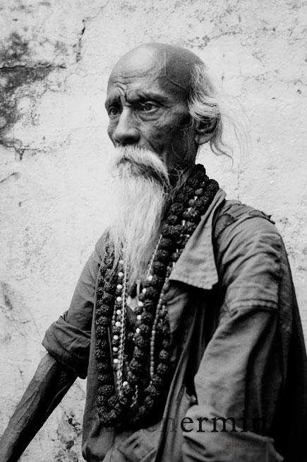 portrait d'un 'hindou dans la ville Vrindavan, capitale mondiale des adeptes du courant Hare Krishna.