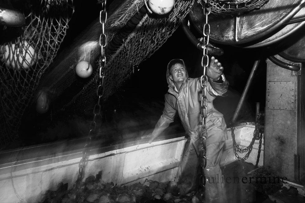Reportage photographique sur les pêcheurs bretons.