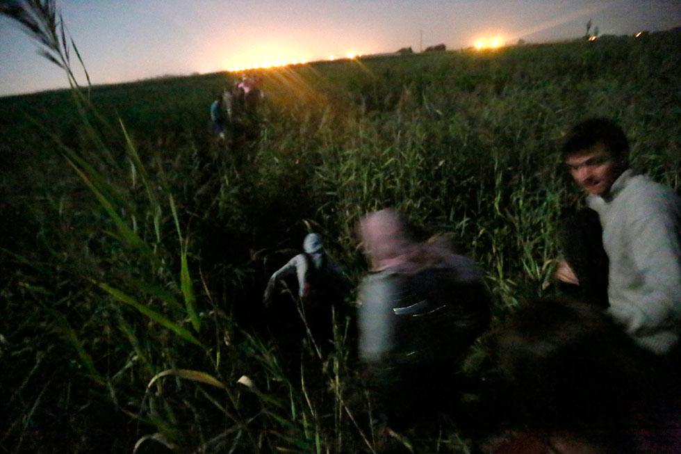 00H16 - Cachés dans les champs de maïs, nous avançons vers la lumière, la frontière.