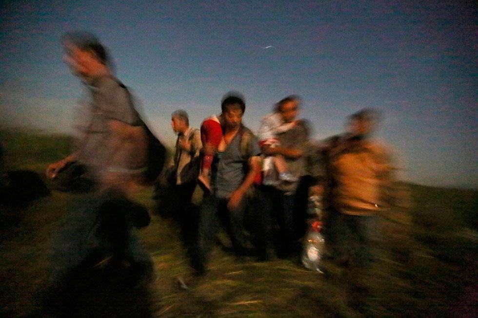 1H23 - Nous marchons toujours en direction de la frontière.