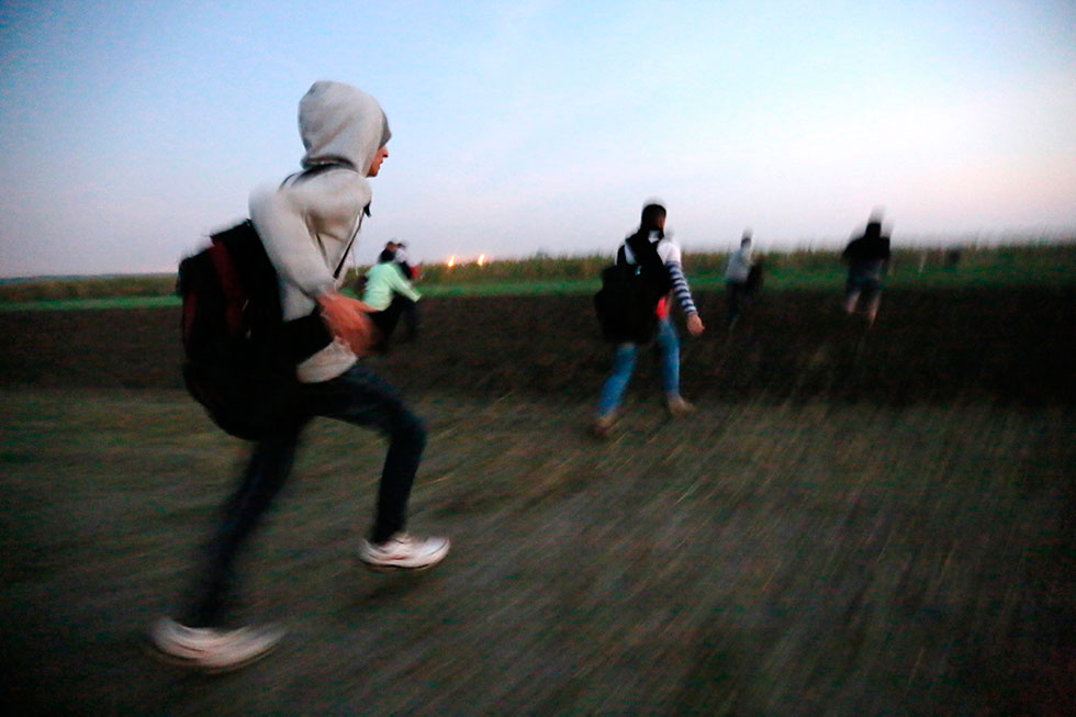 5H17 - Courir, toujours courir, sur des kilomètres à travers champs pour rejoindre une liberté pour le moment  bien précaire.